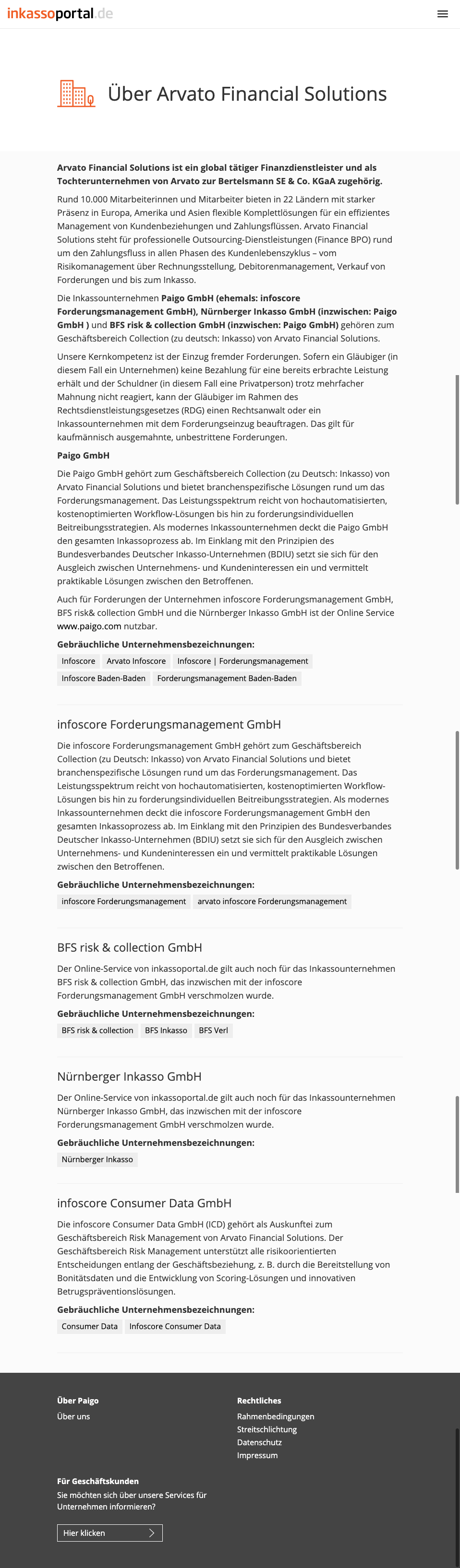 paigo GmbH - Whitelabel-Lösungen Screenshot